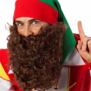 Bruine gekrulde baard