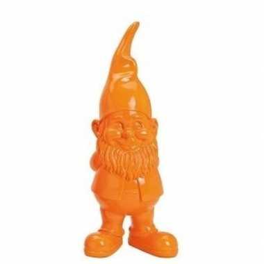 Oranje tuinkabouter beeldje 20 cm