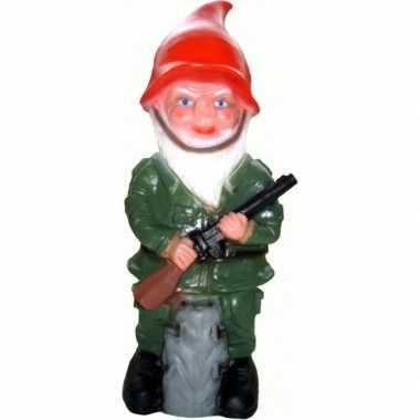 Tuinkabouter militair 50 cm