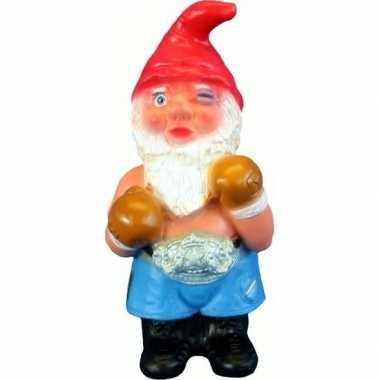 Tuinkabouter rode muts bokskampioen 33 cm