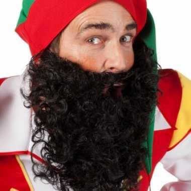 Zwart gekrulde baard